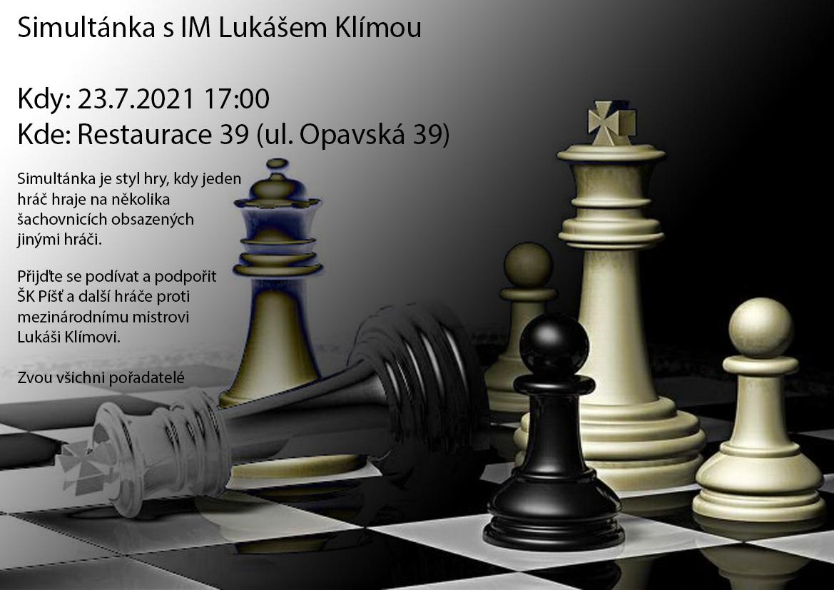Simultánka s mezinárodním šachovým mistrem Lukášem Klímou 1
