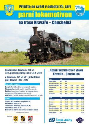 Jízda parní lokomotivou na trase Kravaře-Chuchelná 1