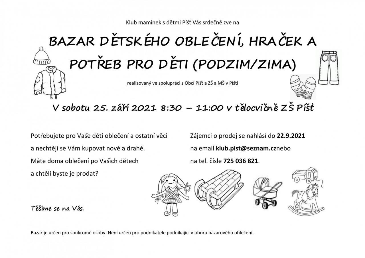 Bazar dětského oblečení, hraček a potřeb pro děti 1